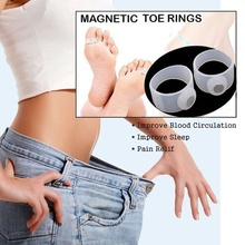 4PCS Magnetic Therapy Slimming Products Fast Lose Weight Burn Fat Reduce Fats body Silicone Foot Massage Magnetic Toe Rings