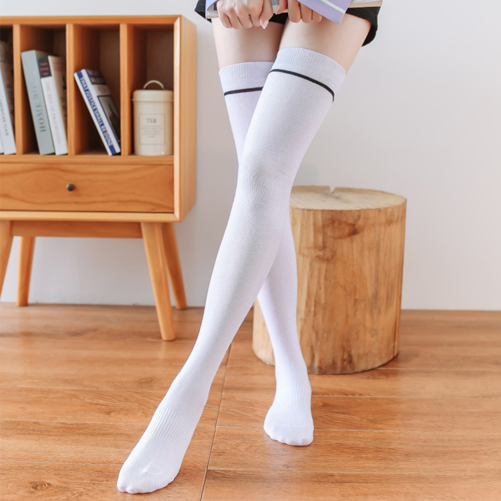 Youtube knee high white stocking strip