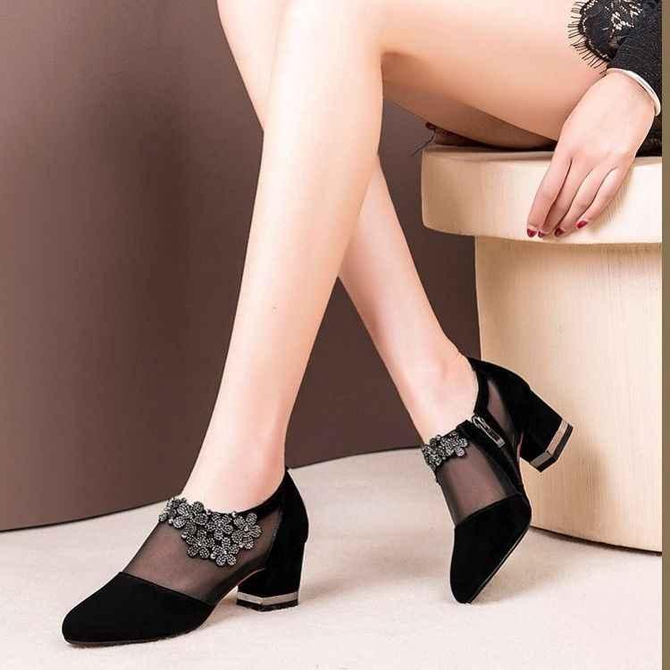 النساء شبكة كريستال البريدي الدانتيل الصنادل امرأة عالية الكعب أحذية سبرينغالإناث الكلاسيكية الصلبة صنادل أرضية السيدات أحذية الحفلات 553