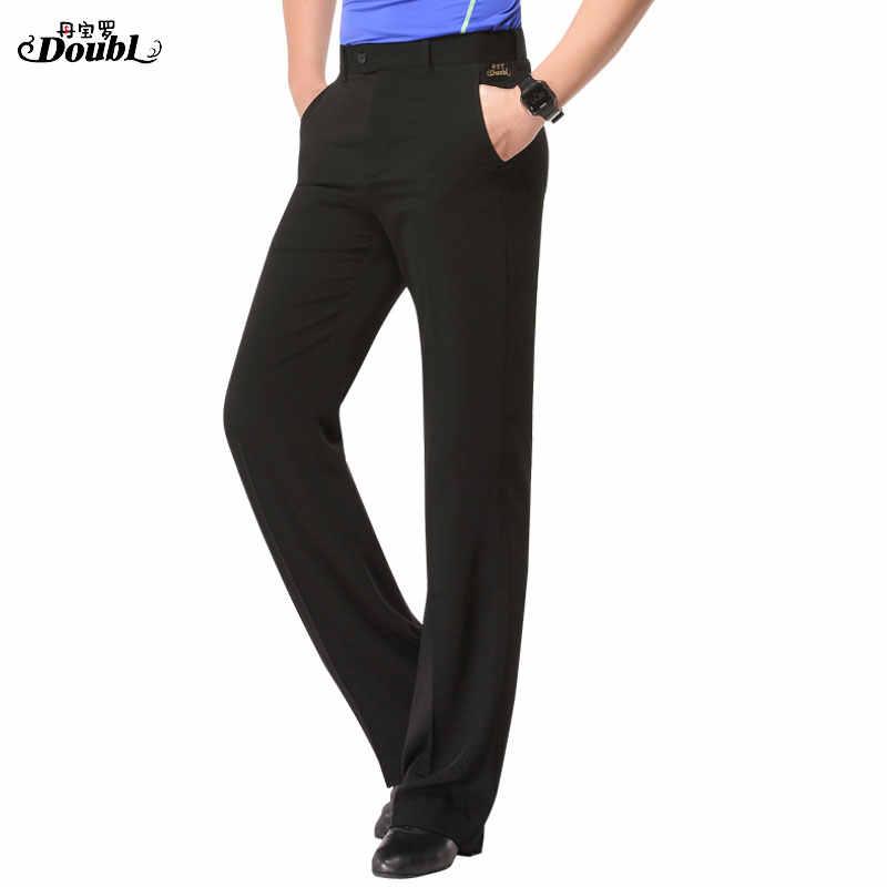 Hohe qualität mens dance hosen Neue Erwachsene Hosen Tasche Hosen Schwarz Praxis Ballroom Dance Hosen stilvolle rumba CHACHA ausbildung