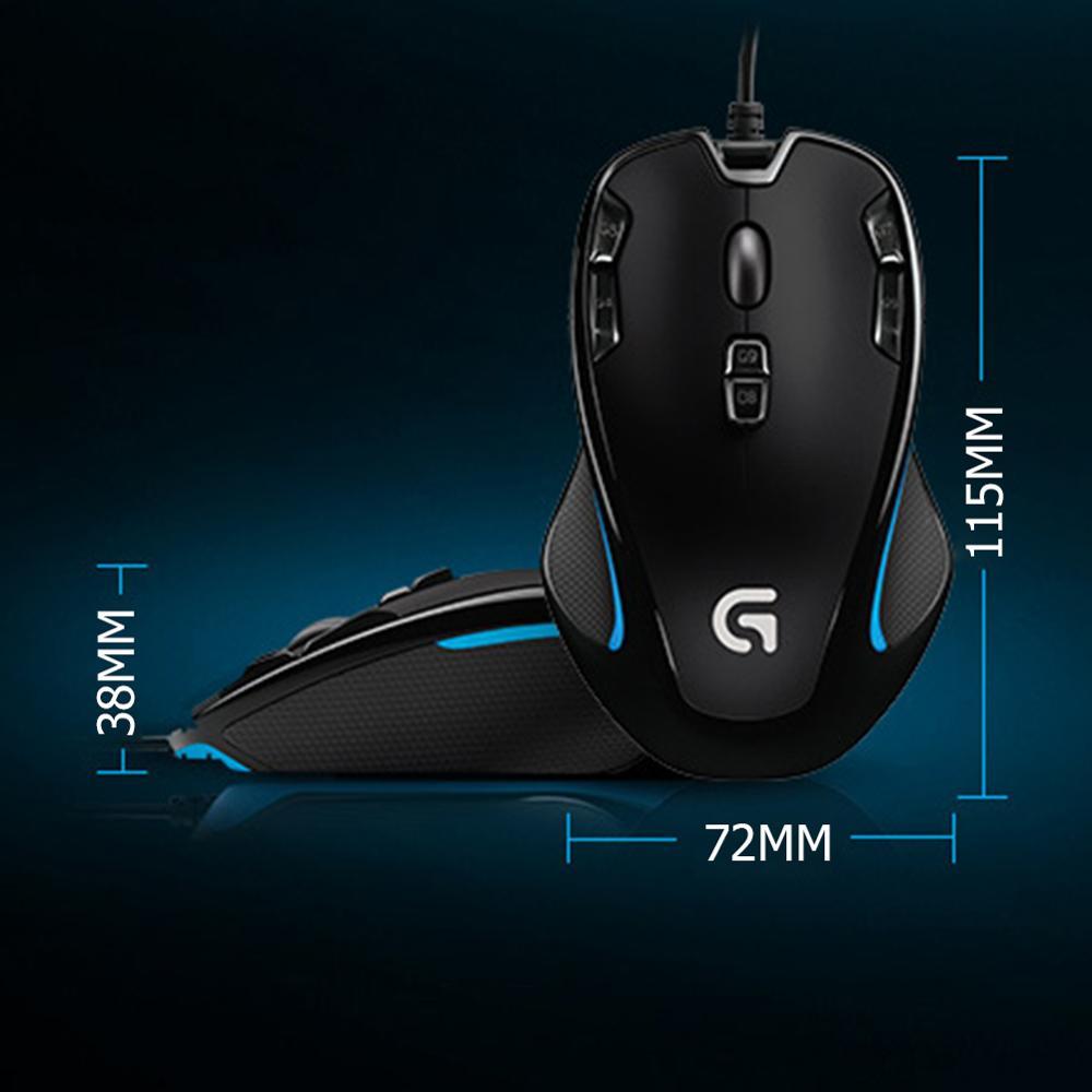 Image 5 - ロジクール G300s 両手利き光学式ゲーミングマウス usb 有線 9 プログラマブルボタン Mouse2500DPI 7 色バックライトゲームマウスマウス   -