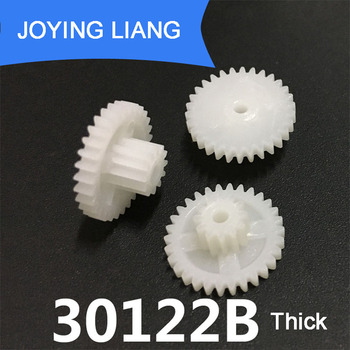 30122B Thick 0.5M Plastic POM Gear Diameter 16mm 30 Teeth 12 Teeth Double Layer Gear 2mm Hole DIY Toy Parts Accessories