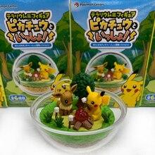 TAKARA TOMY Pokemon Action Figure Children Gifts Pocket Monsters Pikachu Elf Doll Scenes Toys
