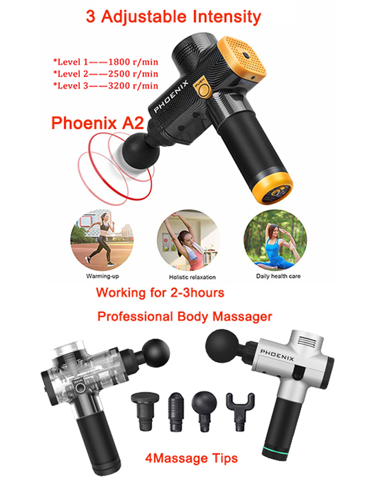 Massage-Gun Deep-Muscle-Massager Professional Phoenix A2 Relaxation-Equipment Body