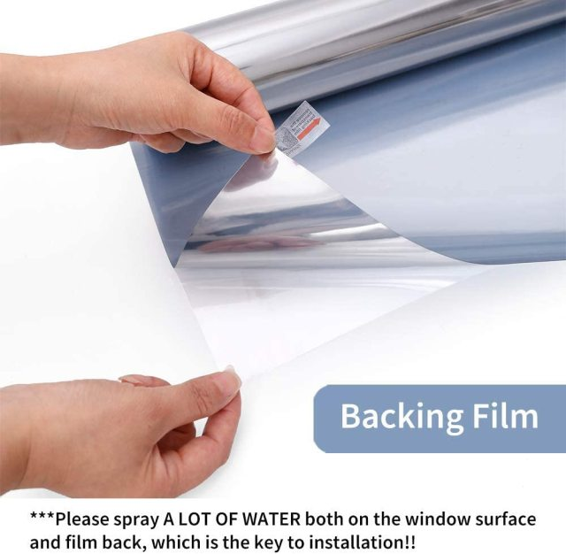 Mirror Reflective Window Film One Way Vision Solar Window Tint Vinyl Glass Self Adhesive Control Film Privacy Sticker for Home 2