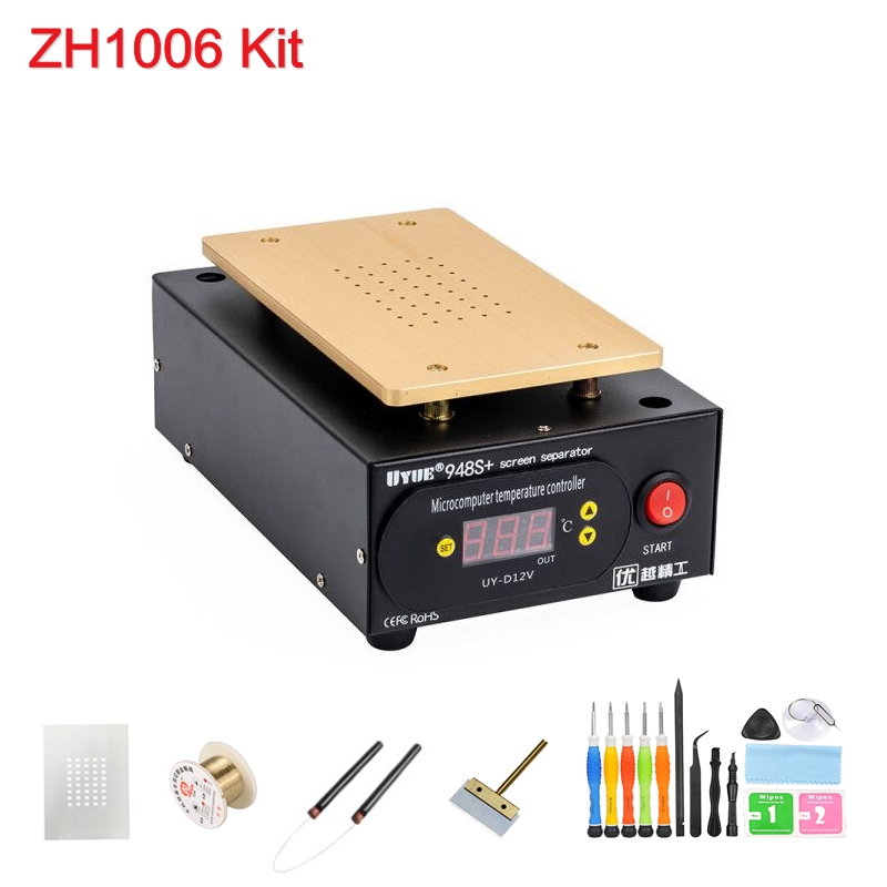 Tools : 110V 220V Built-in Vacuum UYUE 948S   kit for Phone Front Glass Repair LCD Touch Screen Separator Machine