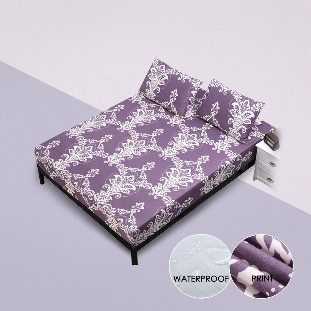 Waterproof Mattress Cover Four Corners With Elastic Band Comfortable Breathable Fitted Sheet For Bed Wetting Anti-mite