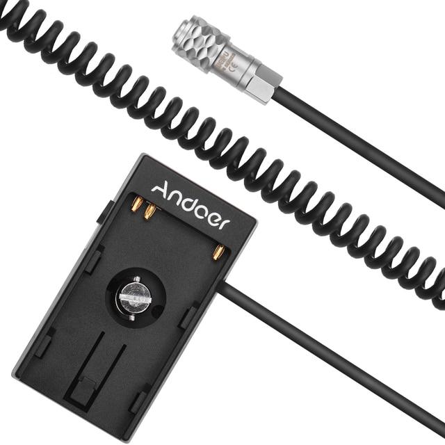 Andoer Camera DV bateria zasilacz płyta montażowa Adapter z 1/4 Cal śruba do Blackmagic Cinema Pocket BMPCC 4K aparaty