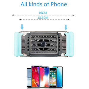 Image 5 - Mobile Phone Cooler Handheld Radiator Grip Support PUBG Phone Cooling Fan Holder Heatsink Stand For Gaming Live Broadcast