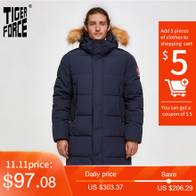 Jacket Coat Alaska Men Parka Tiger-Force Waterproof Winter Hood Thick Long Fur Outwear