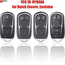 Keyecu Smart Promixity Afstandsbediening Autosleutel Met 3/4/5 Knoppen 315Mhz Fob Voor Buick Encore Envision 2017 2018 2019 2020 Fcc: HYQ4AA