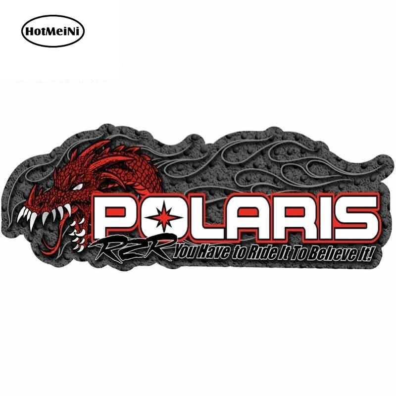 HotMeiNi 13cm X 4.9cm For Polaris RZR Fine Car Stickers Fashion Waterproof Fashion 3D Custom Printing Decal For Vehicle