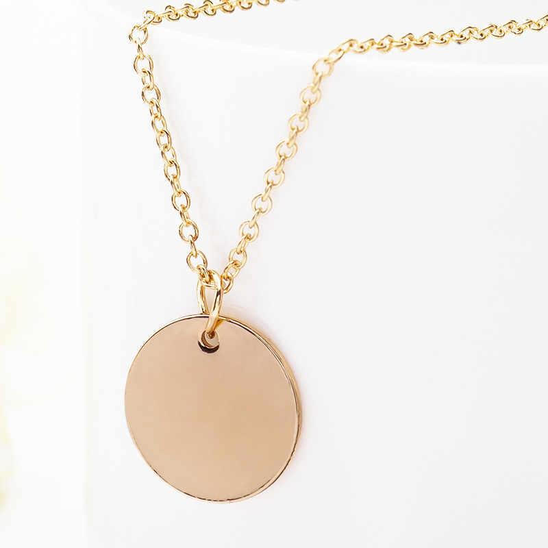 Minimalistischen Gold/Silber Runde Anhänger Kette Halskette Böhmen Einfache Mond Sterne Herz Halsband Halskette Frauen Bijoux Collier
