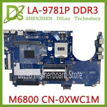 KEFU CN-0XWC1M 0XWC1M FOR Dell Precision M6800 Laptop Mother