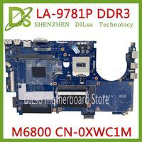 KEFU CN-0XWC1M 0XWC1M PARA Dell Precision M6800 Laptop Motherboard VAR10 LA-9781P DDR3 HM86 mainboard 100% Testado trabalho original