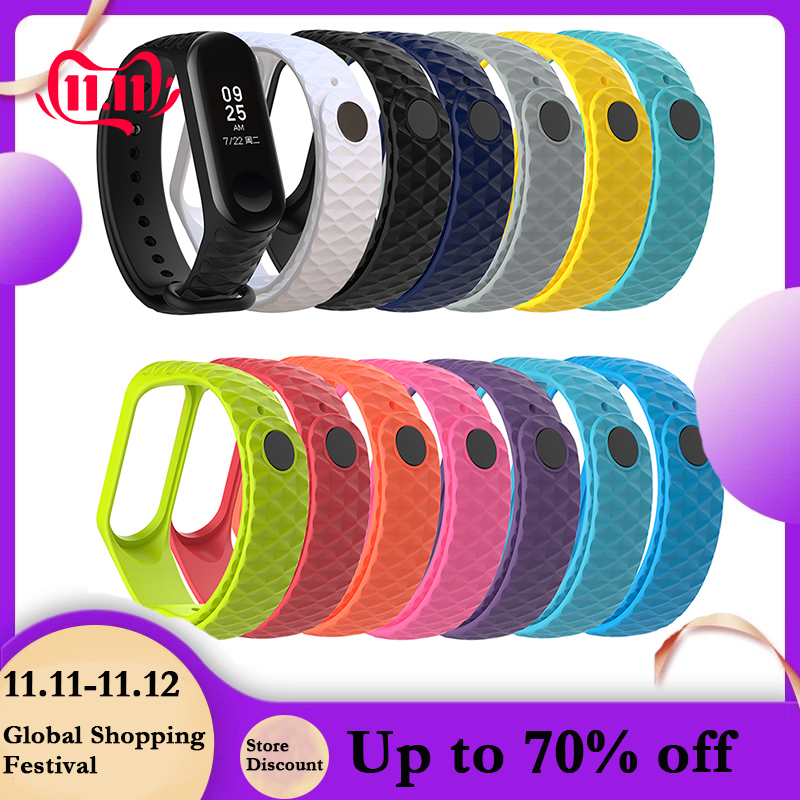 For Xiaomi Mi Band 3 TPU Colorful Strap Wristband Replacement Smart Sport Watch Wrist Band