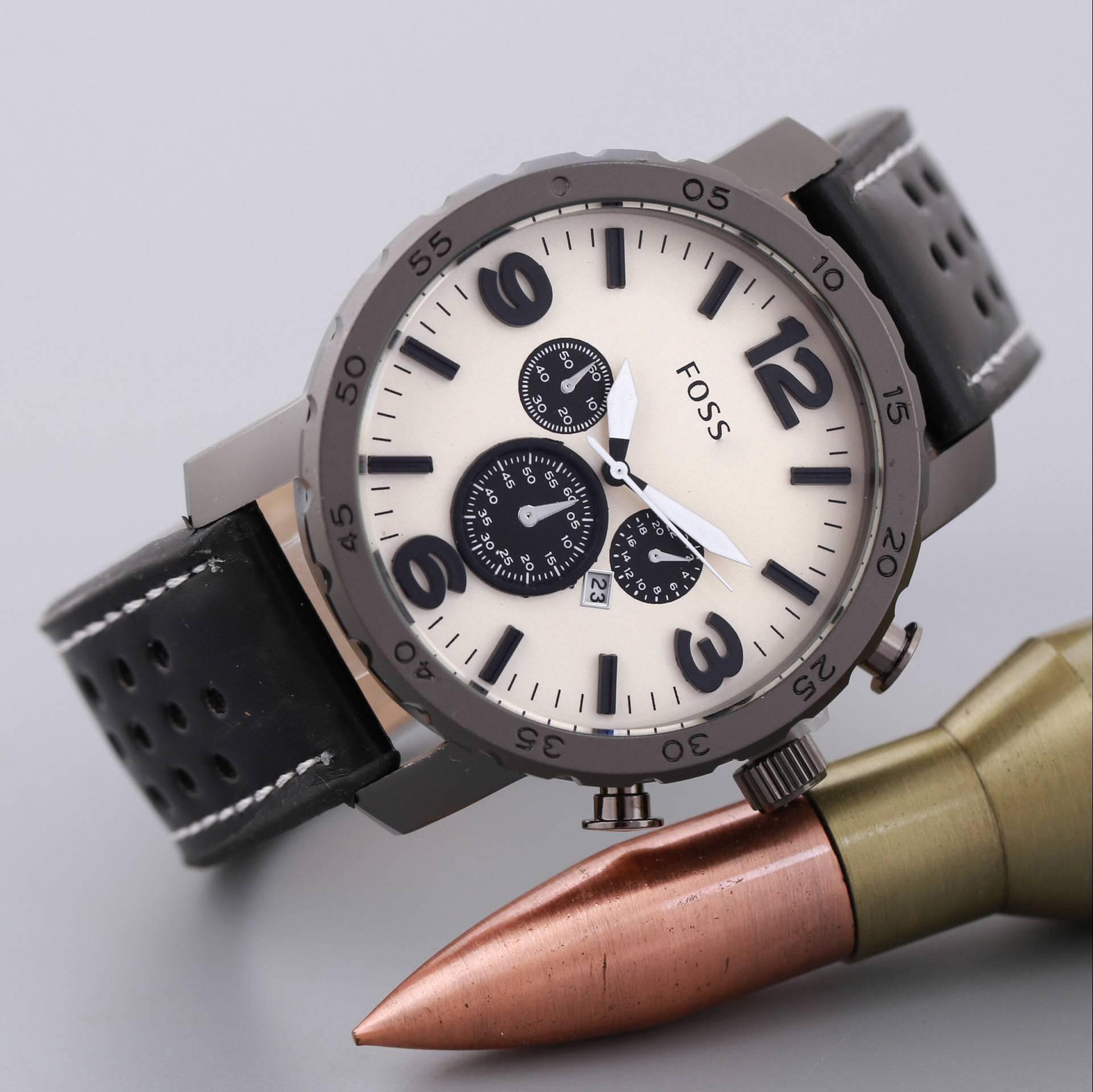 pulseira relógio de quartzo estilo casual calendário relógio de moda masculino
