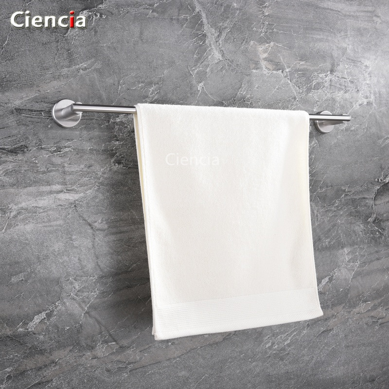 SBH068 SUS304 Stainless Steel Wire Drawing Circle Towel Rack Stainless Steel Hardware Accessories