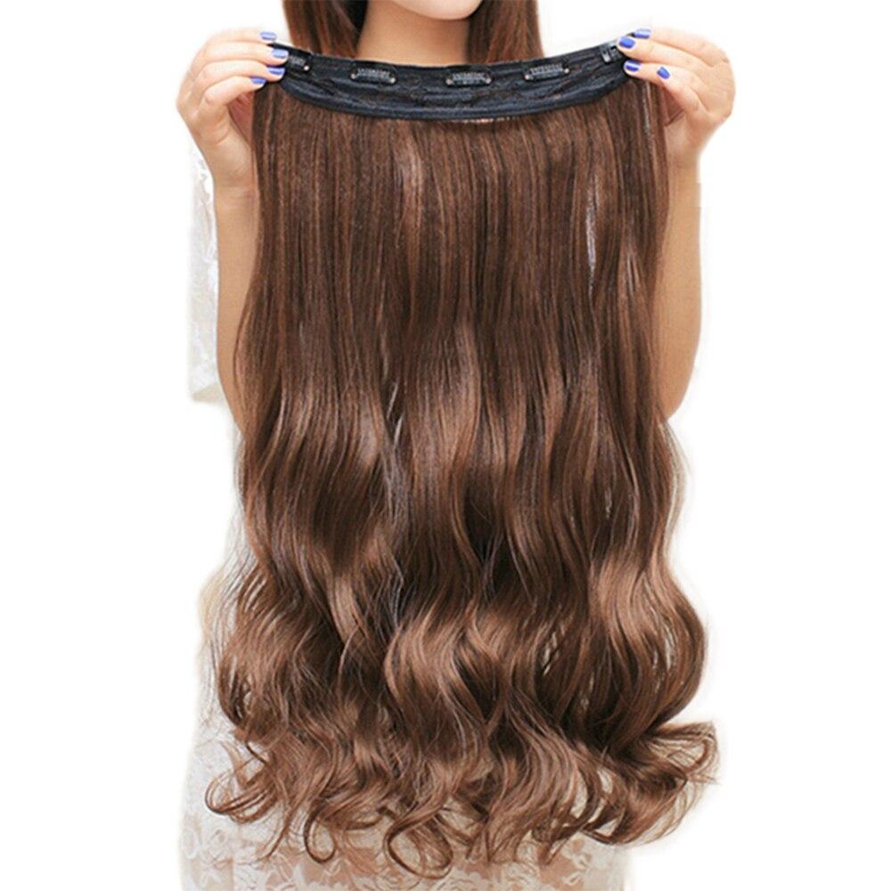 Extensions de cheveux noirs bruns bouclés Soowee 20 couleurs Clip de cheveux synthétiques dans l'extension de cheveux pour les femmes