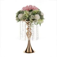 Crystal Bead Flower Bracket Curtain Mermaid Candlestick Vase Wedding Props Romantic For Tieyi