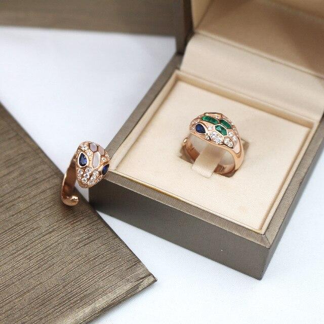 S925 Ophicephalous serpent Malachite anneaux accessoires coquille bijou anneau réglable bijoux de mode femme Valentine femmes cadeaux