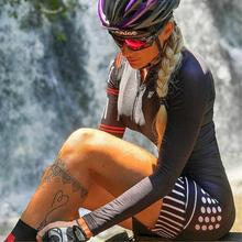 Triathlon Suit Women's Cycling Long Sleeve Skinsuit Jumpsuit Custom Bike Team Kit Mtb Bicicleta Racing Sets Sportwear Clothing gobik lyca triathlon custom cycling clothing skinsuit uk swimwear run road racing pro team ciclismo bike cycling wear bicicleta