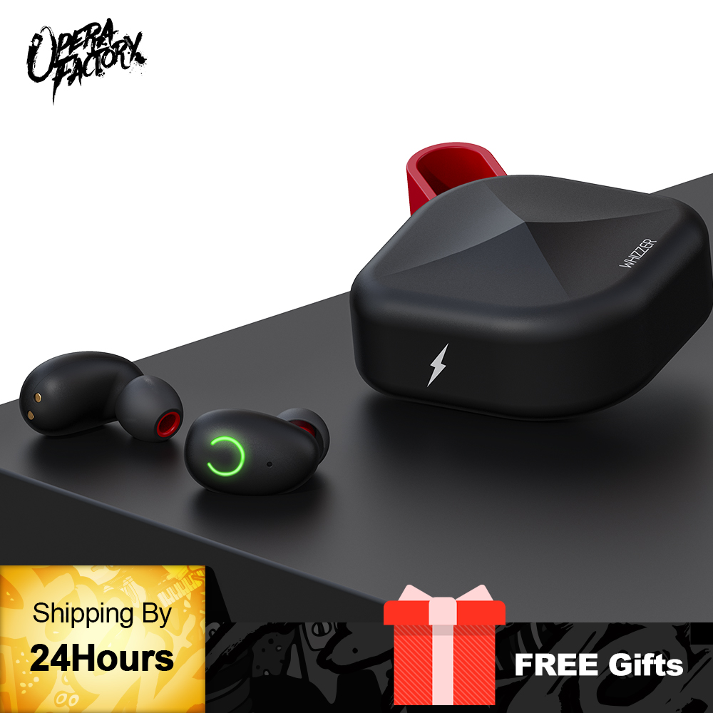 Whizzer B6 IPX7 Waterproof Upgraded TWS Earphones Wireless Earbuds Bluetooth 5.0 Support Aptx 45h Playing Time For iOS/Android wavefun xpods 3
