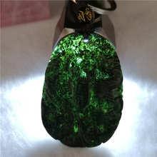Drop Shipping chińska biżuteria czarny zielony nefryt rzeźbione smok przynoszący szczęście Phoenix brelok + naszyjnik liny grzywny Jade brelok tanie tanio NoEnName_Null SILVER 925 sterling Breloczki Zwierząt Kryształ Unisex ZW-0146 Klasyczny Payment customization