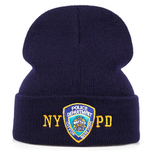 NYPD Police Winter Warm Skullies Beanies Men Thick