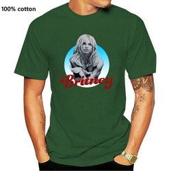 Britney Spears 2001 Album Cover Athleticer  Fit Flex T Shirt White men  Short  Casual  Cotton  tshirt men