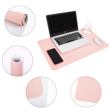 Pink desk pad protector 35.4 x 15.75 full blush pad,desk home office mat 17x12in for laptop