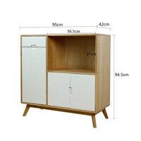 Scandinavian Minimalist Sideboards Cabinet Solid Wood Microwave Oven Tea Cabinet Multi functional Kitchen Cabinet Storage Cabine