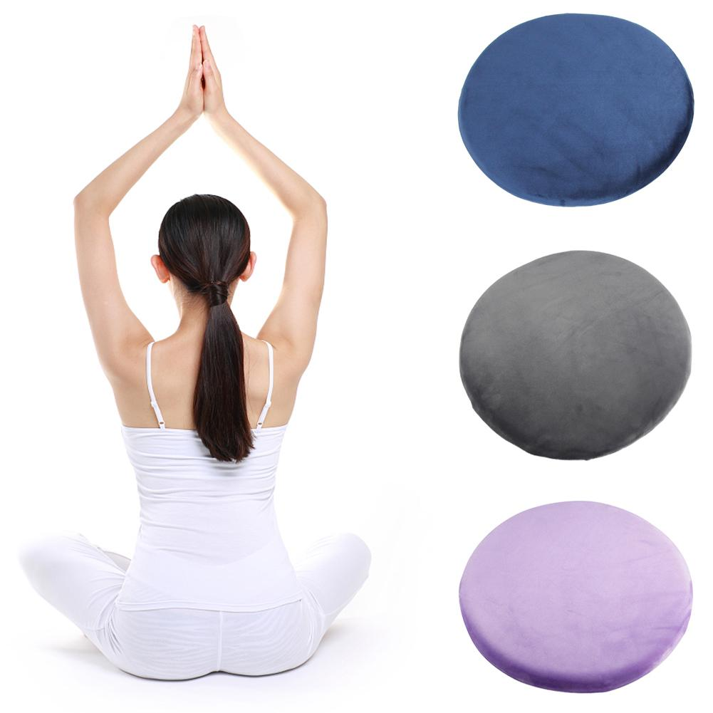 Yoga Meditation Pillow Round Memory Cotton Decompression Beautiful Butt Pillow Wear-resistant Non-slip Cushion