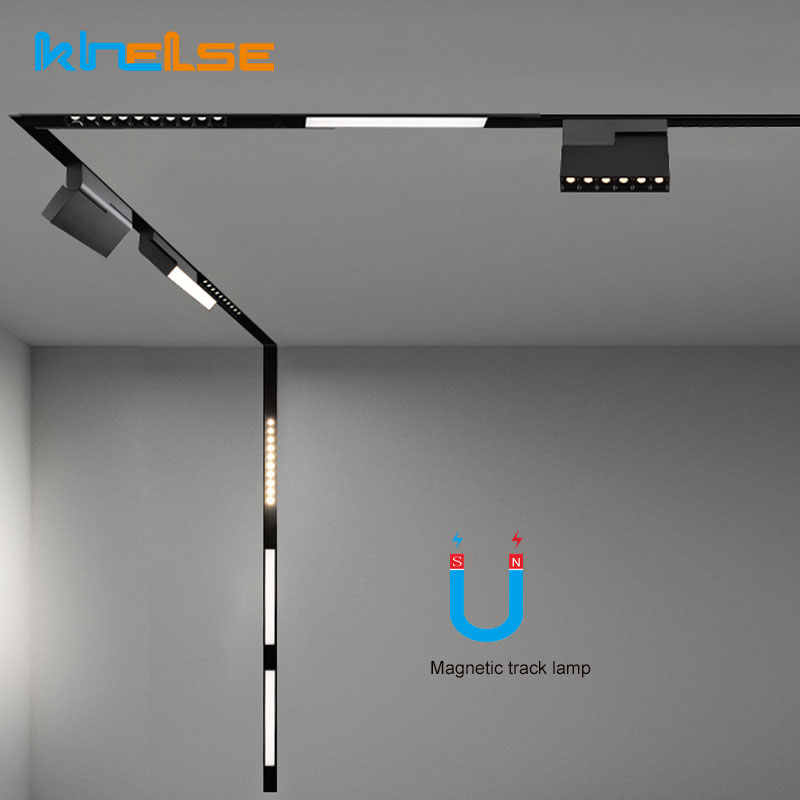 New Led Track Lighting Aluminum Ceiling Recessed Suspended Creative 0 5m 1m Led Magnetic Lights Track Rail
