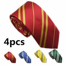 Взрослые и дети Гриффиндор Слизерин Поттер галстук колледж Стиль косплей костюм аксессуары Харрис галстук аксессуары для празднования Хеллоуина