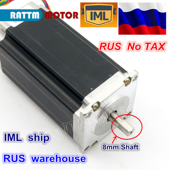 RU ship NEMA23 425Oz-in 112mm 12-24V/DC 280N.cm CNC Dual shaft stepper motor stepping motor 3A for CNC Rouer Milling Machine image