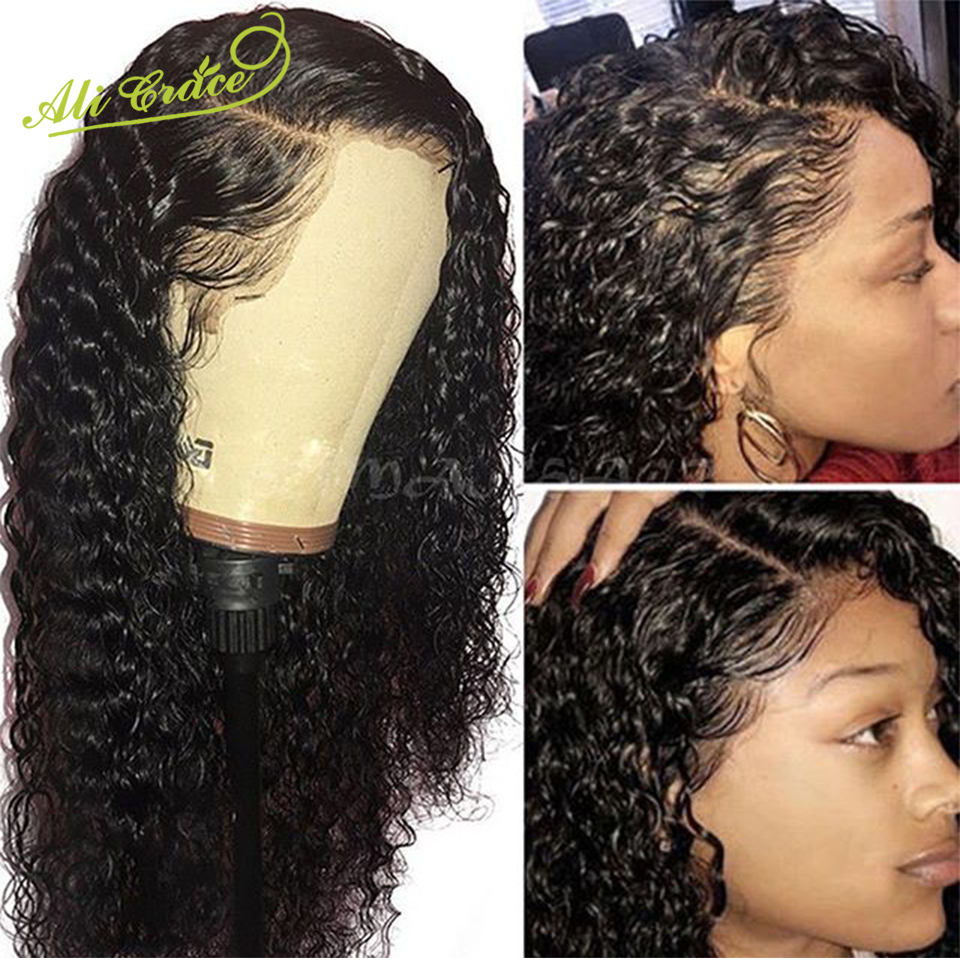 Wigs Grace-Hair Water-Wave Full-Lace Ali with Pre-Plucked 150%Density Malaysian 130-% title=