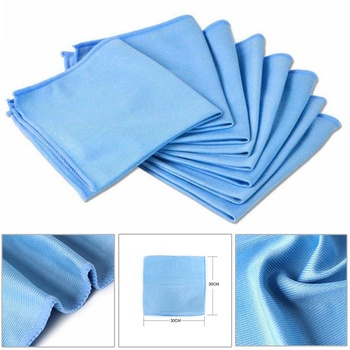1Pcs 30cmx30cm Car Microfiber Glass Cleaning Towel Stainless Steel Polishing Shine Cloth No Trace Window Windshield Cloth no trace absorbable 3 size soft microfiber no lint window car rag cleaning towel kitchen cleaning cloth wipes wipe glass cloth