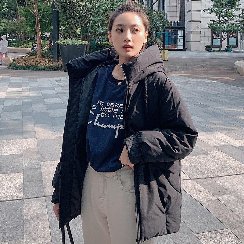 2019 New Style Winter Jacket Women Solid Hooded Thick Female Jackets For Winter Coat Parka Waterproof Women