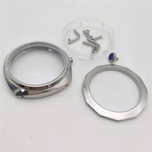 45mm Stainless Steel Hand Winding Polished Watch Case for ETA 6497 6498 For  ST36 Watch Movement Repair Parts