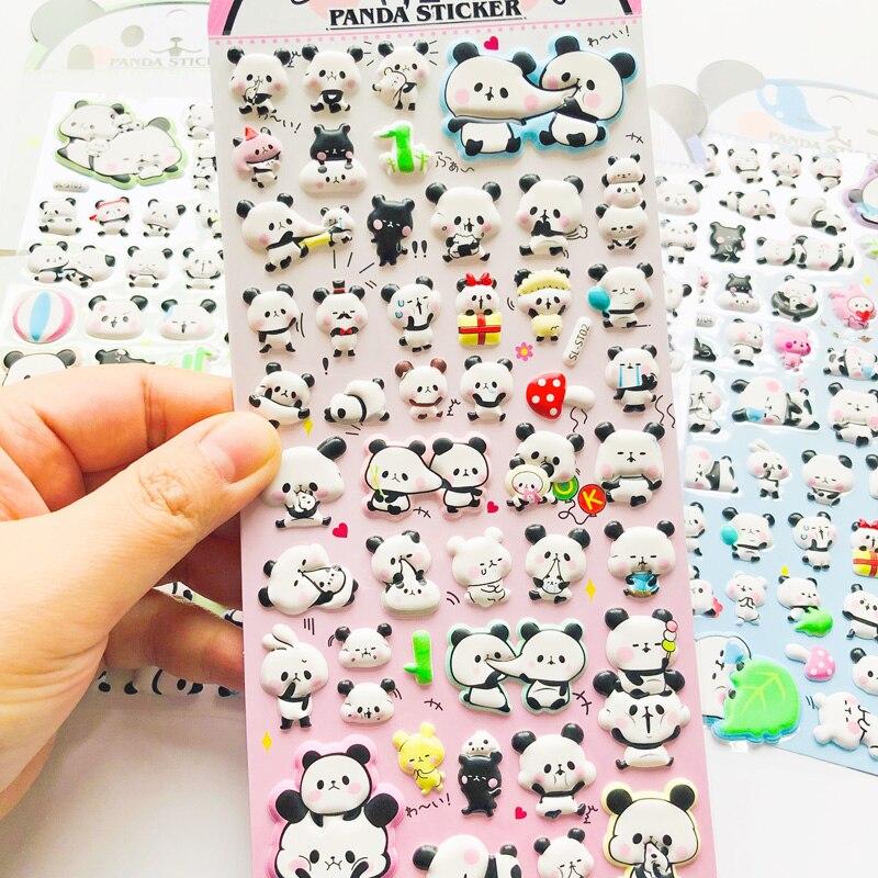 1 Sheet Cute Panda 3D Foam DIY Sticker Stick Label Notebook Album Diary Decor
