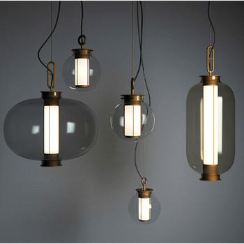 Post-Modern Dining Room Bedroom Bedside Small Pendant Lamp Milan Designer Creative Combination Personality Glass Lamp