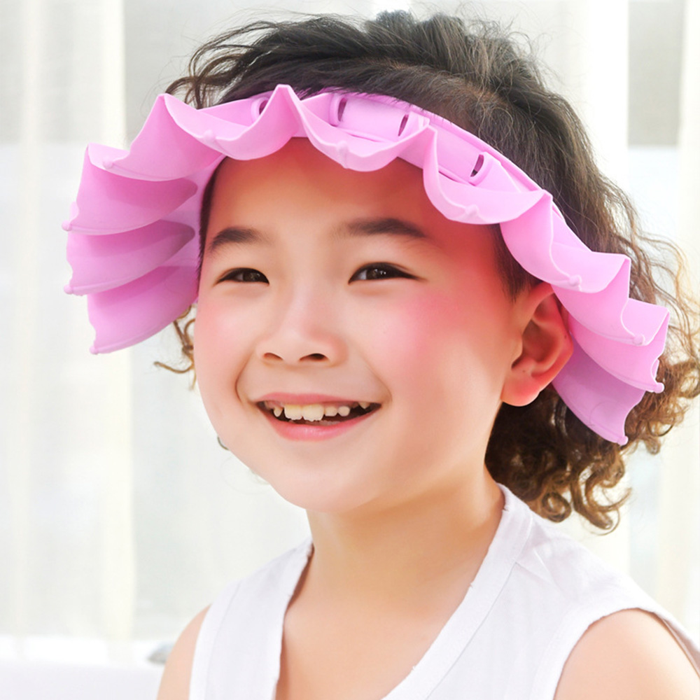Kids Shampoo Shower Bathing Cap Bath Protect Adjustable Cap for Baby Wash Hair Shield Children Bathing Hat