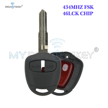 цена на Lancer Outlander Colt & Mirage Remote key 2 button MIT11R profile 434mhz ID46LCK for Mitsubishi  Shogun Pajero key remtekey