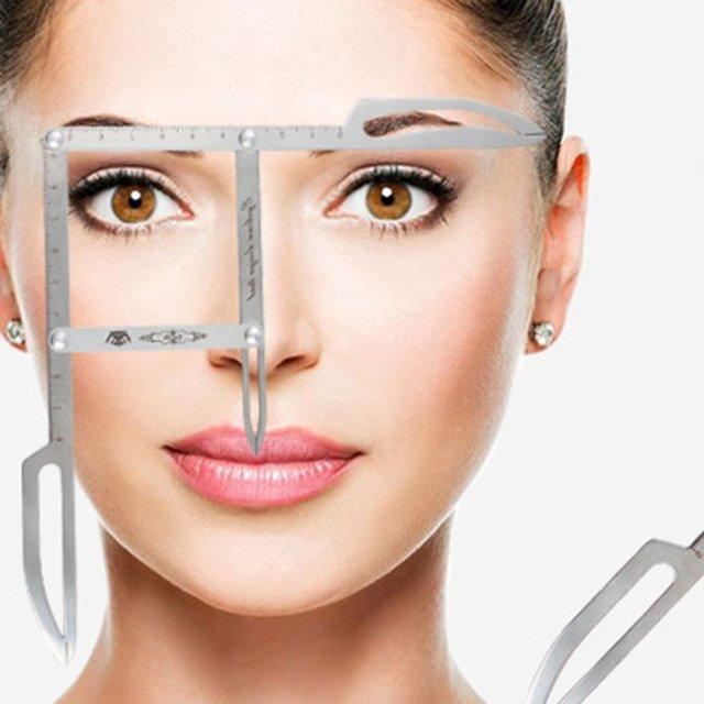 Standard Volume Eyebrow Positioning Ruler Tattoo Eyebrow Artifact Face Gold Scale Ruler Tattoo Supplies 5