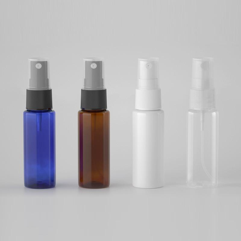 100pcs 20ml Miniature White Plastic Bottle With Mist Spray  20cc Empty Perfume Sprayer Container Samll Sample Pocket Bottles
