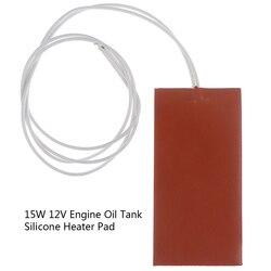 15W 12V DC 50X100mm elastyczna wodoodporna silikonowa płyta grzejna podgrzewacz drutu blok silnika miska olejowa zbiornik hydrauliczny ogrzewanie podkładka pod talerz w Elektryczne poduszki grzewcze od Dom i ogród na