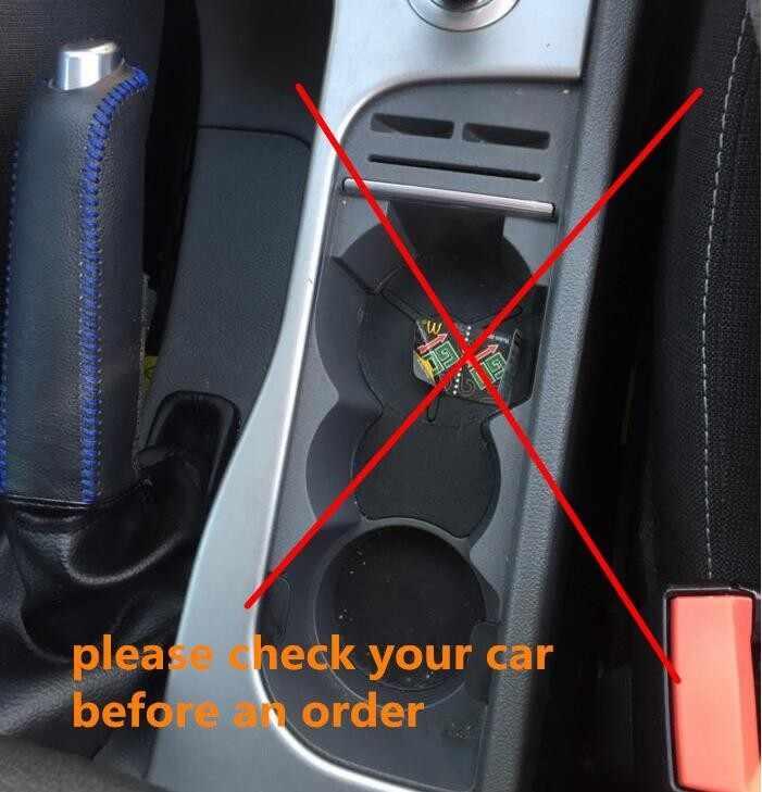 カースタイリング内装ステンレス鋼ステッカーカバー水カップホルダーパネル装飾フォードフォーカス 2 MK2 フィエスタ 2009 -16