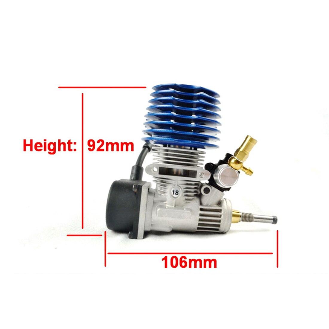 FC 18 Тяговый стартер двигателя 2.95cc двигатель для 1/10 метанола топлива RC модель автомобиля (с свечей зажигания) обучающая игрушка подарок для д... - 2