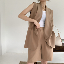 Women sleeveless blazer sets 2020 new fashion short pants se